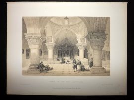 David Roberts Holy Land 1887 Antique Print. Crypt of the Holy Sepulchre. Israel
